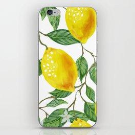 TROPICAL LEMON TREE iPhone Skin