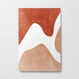 Terracotta Art Print 7 - Terracotta Abstract - Modern, Minimal, Contemporary Print - Burnt Orange Metal Print