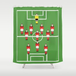 Soccer football team in red Shower Curtain