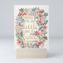 Little & Fierce Mini Art Print