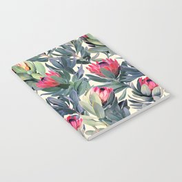 Painted Protea Pattern Notebook
