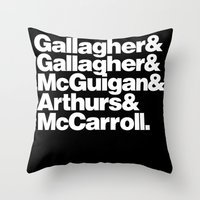 oasis Throw Pillows featuring oasis by Radu Becus