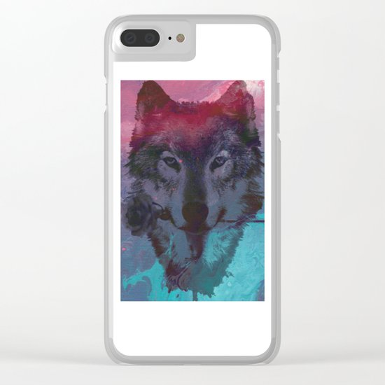 the wolf 7 Clear iPhone Case