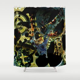 Tina's Steampunk Gears, Scanography Shower Curtain
