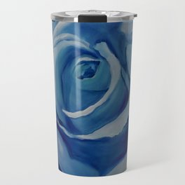 Turquoise Rose Travel Mug
