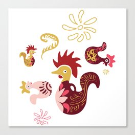 Funky Rooster Canvas Print