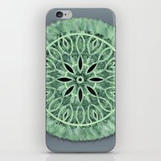 Mint Green 3D Faux Embroidery iPhone Skin