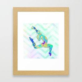 Gymnast Jump Framed Art Print