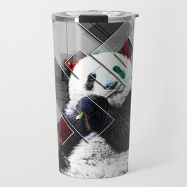 Cute colorful collage Panda Travel Mug