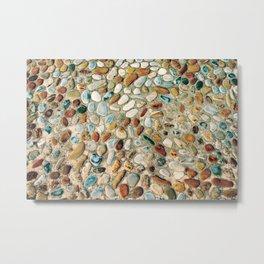 Pebble Rock Flooring IV Metal Print