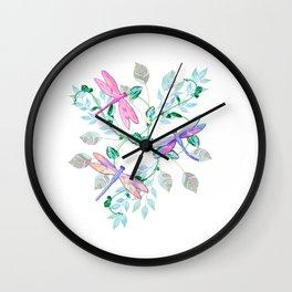 Dragonfly in Flight Wall Clock