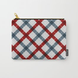 Colorful Geometric Strips Pattern - Kitchen Napkin Style Carry-All Pouch