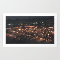 Djemaa Night Art Print