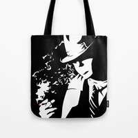 noir Tote Bags featuring Noir by Solano