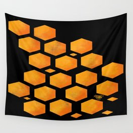 Bee in a Honeycomb Wall Tapestry