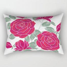 Red roses. Rectangular Pillow