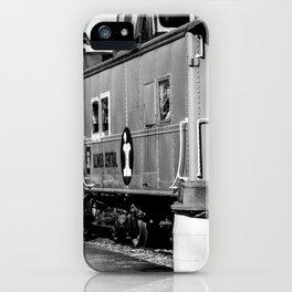 Railroad Cars_BW iPhone Case