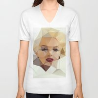 play V-neck T-shirts featuring Monroe. by David
