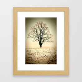 Standing In The Cold Framed Art Print