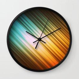 Autumn Glow Stripes Wall Clock