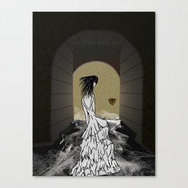 Ghost in the Hallway Canvas Print