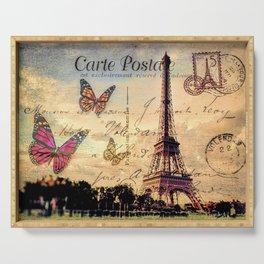 Vintage Paris-Carte Postale Serving Tray