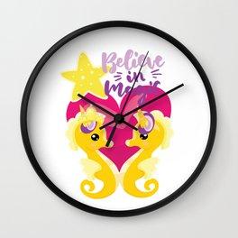 Is it a seahorse? Is it a unicorn? It is magic Wall Clock