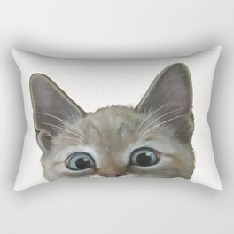 happy cat Rectangular Pillow