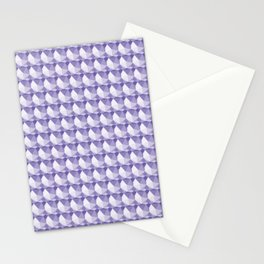 3D Optical Illusion: Purple Icosahedron Pattern Stationery Cards