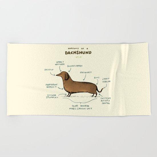 Anatomy of a Dachshund Beach Towel