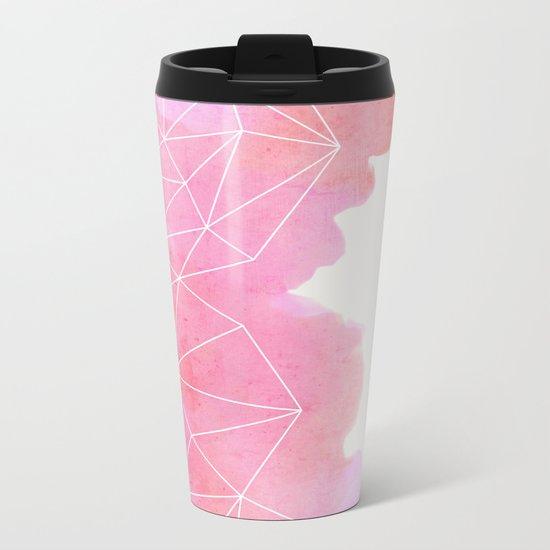 Pink Cloud Metal Travel Mug