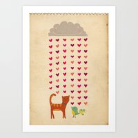 valentines Art Prints featuring Valentines by Joanne Hawker