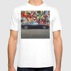 Sports Car White Mens Fitted Tee MEDIUM