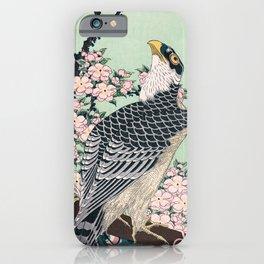 12,000pixel-500dpi - Katsushika Hokusai - Cherry blossoms and Eagle - Digital Remastered Edition iPhone Case