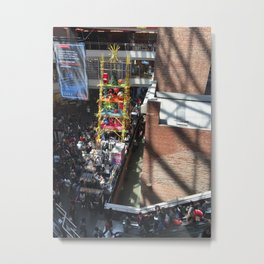 Crowded Shopping Mall Metal Print