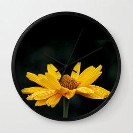 Bright Yellow And Black Wall Clock