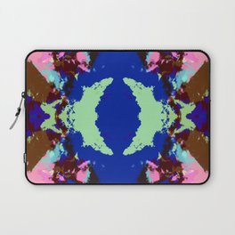 Abstract Pink & Funky Ink Blot Rorschach Butterfly Laptop Sleeve