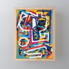 Yellow Life Graffiti Abstract Street Art by Emmanuel Signorino© Framed Mini Art Print