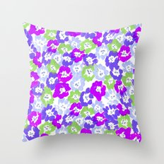 Morning Glory - Violet Multi Throw Pillow