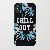 tupac iPhone & iPod Cases featuring Chill Out by Text Guy