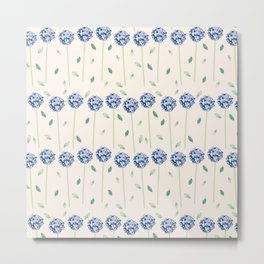 Botanical garden - lilac hortensia Metal Print