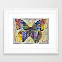 kandinsky Framed Art Prints featuring Kandinsky Butterfly by Detailicious