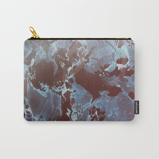 Shadows in Blue and Brown Carry-All Pouch