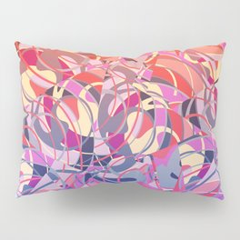 Summer Sunset Abstract - Purples and Reds Pillow Sham