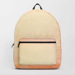 Modern abstract orange summer ombre pattern Backpack