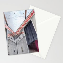 Two old photo booth in Berlin, Germany Stationery Cards