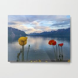Springtime in Montreux, Switzerland Metal Print
