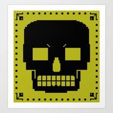 grrr skull. Art Print