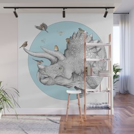 Triceratops and Birdies Wall Mural