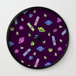 Candy Creeps Wall Clock